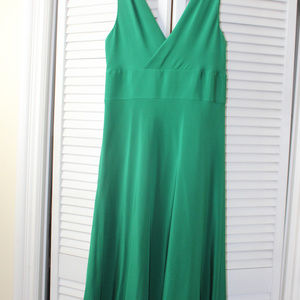 J. Crew Silk Size 8 Emerald Green Dress